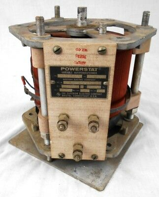 Western Electric Superior Powerstat Variable Autotransformer