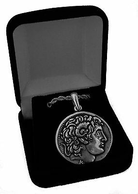 Alexander the Great & Horse Greek Coin Pendant/Chain Stocking Stuffer (46PC-G)