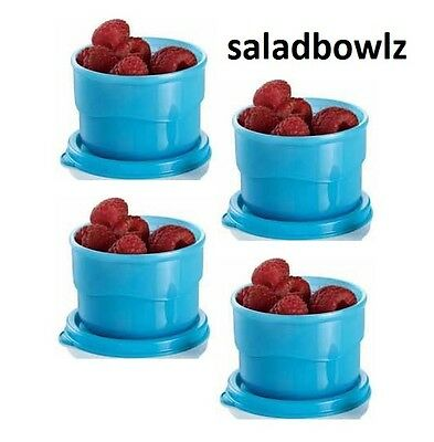 TUPPERWARE New WAVY SNACK CUPS, 4 cup set, 4 oz containers with lids fREEsHIP!