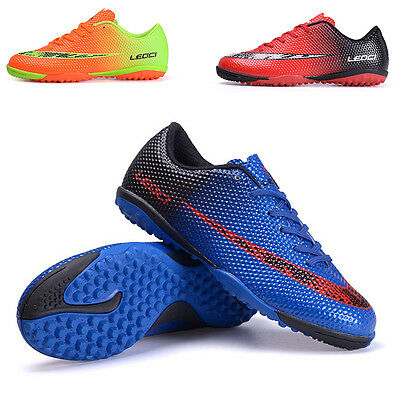 Men Youth Boy's Indoor TF Soccer Cleats Shoes Turf Football Trainers Sneakers