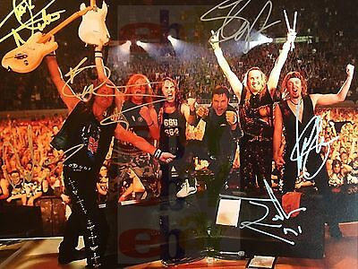 REPRINT RP 8x10 Signed Autographed Photo: Color Iron Maiden Group by all #1