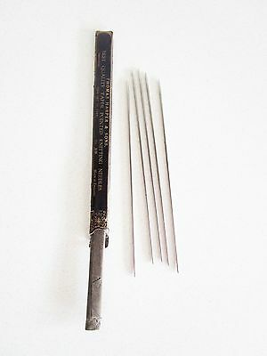 Antique Steel Knitting Needles No. 12 Thomas Harper & Sons England Set of 5