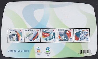 Canada 2009 #2299 Souvenir Sheet - Olympic Sporting Events MNH