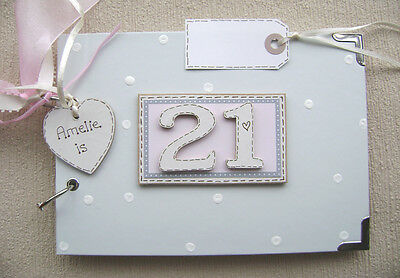 PERSONALISED 21st  birthday .A5  SIZE. PHOTO ALBUM/SCRAPBOOK/MEMORY BOOK....