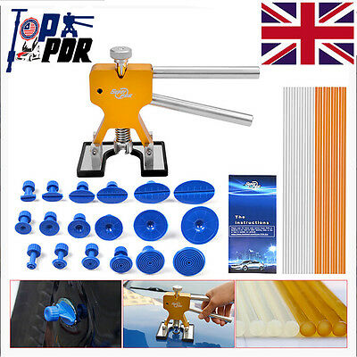 Paintless Dent Removal Tools Dent Puller Lifter Glue Tabs Full Pdr Tools Kit