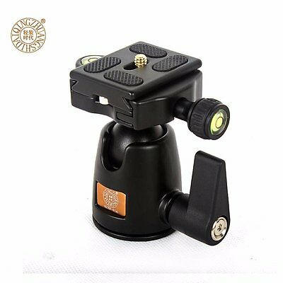 QZSD-01 360° Aluminum Ball Head + Quick Release Plate for Camera Tripod Monopod