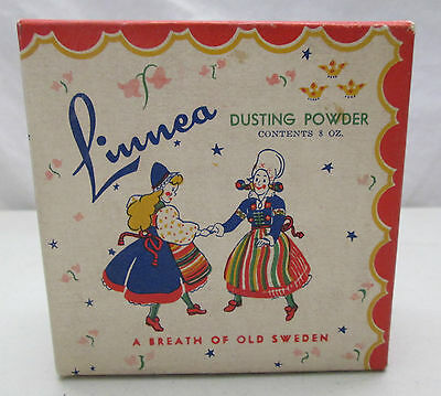 Vintage Linnea Dusting Powder A Breath Of Old Sweden Woodbine Honeysuckle USA