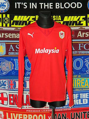 5/5 Cardiff City adults XXL 2011 long sleeves mint football shirt jersey trikot