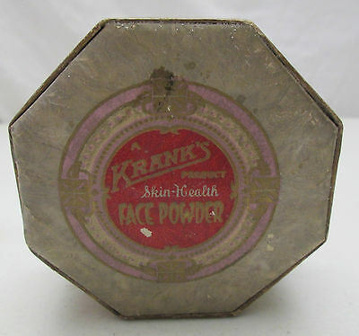 Vintage A.J. Frank Skin Health Face Powder Octagon Container 1922 Brunette