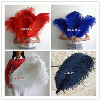 Wholesale!10/50/100pcs High Quality Natural OSTRICH FEATHERS 6-24 inch/15-60cm B