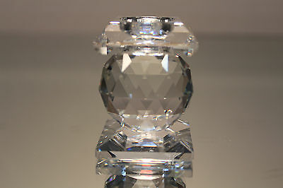 Swarovski Crystal Candle Holder 7600 NR 102 Square Top Hole Style MINT with Box