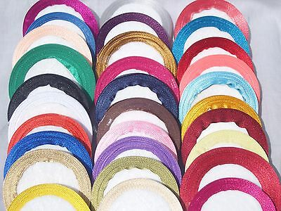Satin Ribbon Size 15mm, 25 Yards Rolls Choose  many Colours BUY 3 & GET 1 Free
