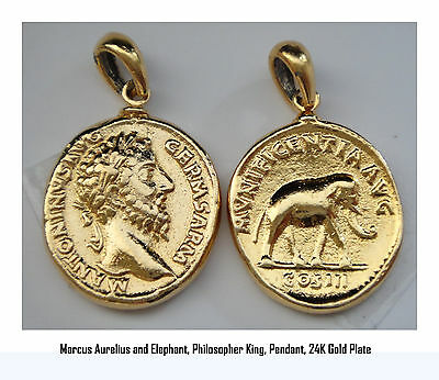 Marcus Aurelius, Philosopher King, Necklace, Pendant  26-G