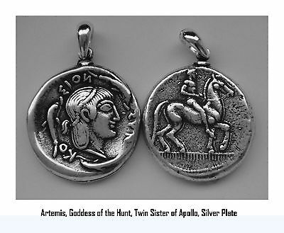 Artemis, Goddess of the Hunt, Twin Sister of Apollo, Pendant 8-S