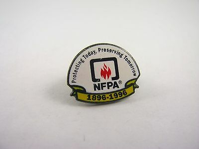 Collectible Pin: NFPA Protecting Today Preserving Tomorrow 1896-1996