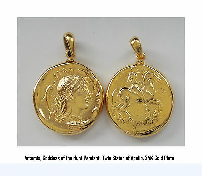Artemis, Goddess of the Hunt, Twin Sister of Apollo, Pendant 8-G