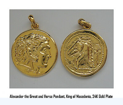 Alexander the Great & Horse, King of Macedonia, Son of Phillip II, Pendant, 46-G