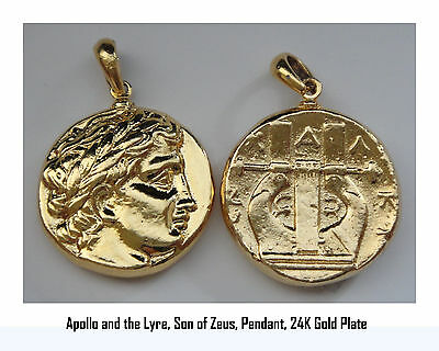 Percy Jackson Book Fans, APOLLO & Lyre, God of the Sun, Pendant, 30-G