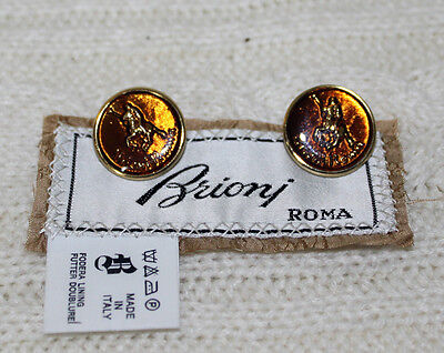 Lot of 2 Vintage Brioni Roma Metal Replacement Buttons
