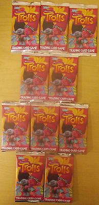 Trolls Dreamworks Movie ~ Topps Trading Cards Collection 10 x Sealed Packs