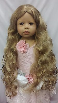 """NWT Monique Donna Straw Blonde Doll Wig 17-18"""" fits Masterpiece Doll(WIG ONLY)"""