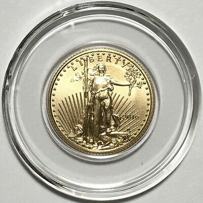 2016 1/10 oz $5 American Gold Eagle Bullion Coin - Gem BU - In Capsule