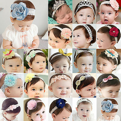Best Headband Kids Girl Baby Toddler Bow Flower Hair Band Accessories Headwear