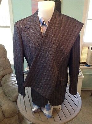 Vintage EUC Funky Mens Suit 40R 2Pc Bell Bottom Perfect Condition 1970's MUST SE