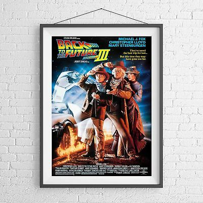 BACK TO THE FUTURE  3 CULT CLASSIC MOVIE POSTER PICTURE PRINT Sizes A5 to A0 *NE
