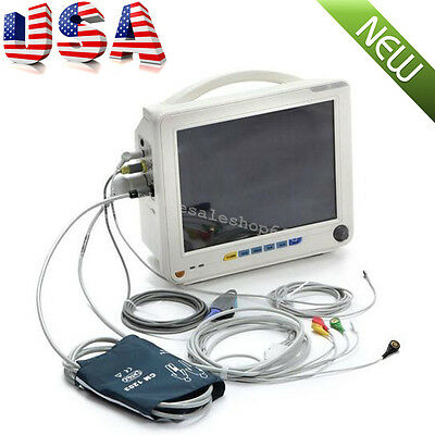 FDA ICU Patient Monitor 6 Parameter Vital Sign ECG NIBP RESP TEMP SPO2 PR CE jjk