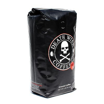 Death Wish Coffee The World's Strongest Ground Coffee Fair Trade and Organic 1LB