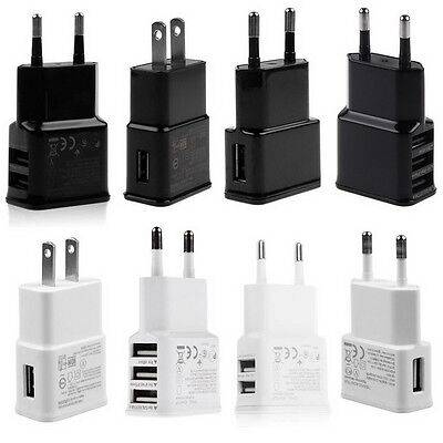 5V 2A 1/2/3-Port USB Wall Adapter Charger US/EU Plug For Samsung S5 6 iPhone