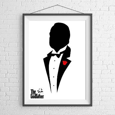THE GODFATHER CULT CLASSIC MOVIE POSTER PICTURE PRINT Sizes A5 to A0 **NEW**