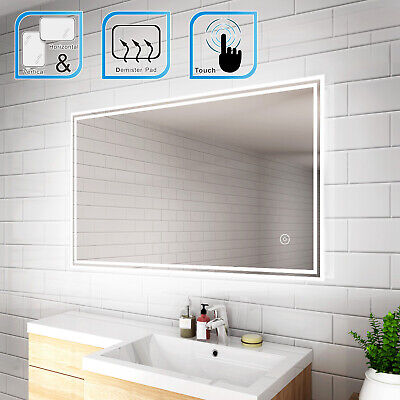 LED Illuminated Bathroom Mirror  IP44 Demister Sensor Touch FREE NEXTDAY DEL