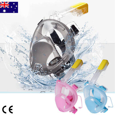 Pro Swimming Easy Free Breath Surface Diving Snorkeling Full Face Mask Goggles