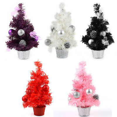 """12"""" Christmas Decoration Winter Holiday Party Mini Tree Ornament Gifts +Buckle"""