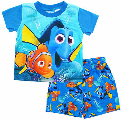 NEW Size 2-5 KIDS PYJAMAS PJ PJS FINDING DORY NEMO TSHIRTS TEES TOP BOYS NIGHTIE