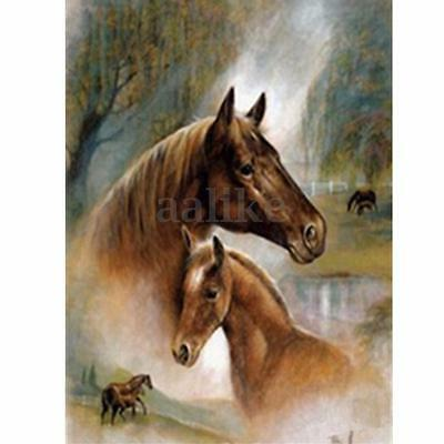 New Horses 5D Diamond Painting DIY Embroidery Cross Stitch Craft Home Decor Kit