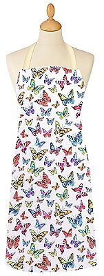 Cooksmart Butterfly Adult Apron PVC Coated Cotton Wipe Clean Full Bib Multi New