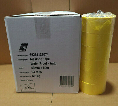 """High Temperature Masking TAPE AUTOMOTIVE 5 ROLLS 48mm (2"""") WRAPPING / PACKAGING"""