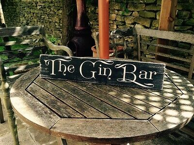 Gin & Tonic GIN BAR Pub BBQ sign plaque Party Gift Vintage Look Old GARDEN SHED
