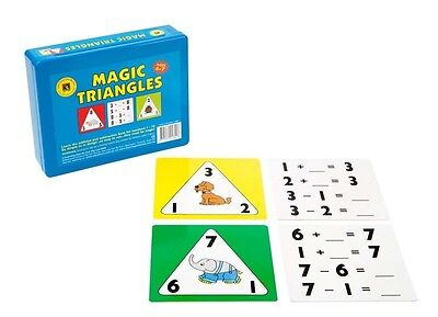 Magic Triangles Addition Subtraction Educational Game Numbers 1-10 Kids Learning