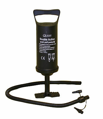 """Quest Leisure Double Action 14"""" Hand Pump - For Airbed, Dinghy, Lilo, Etc."""