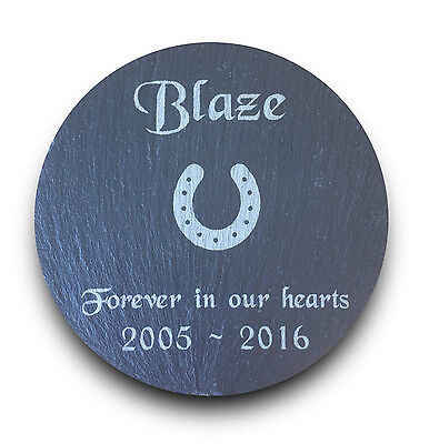 Personalised Engraved Slate Pet Memorial Grave Marker Plaque Horse