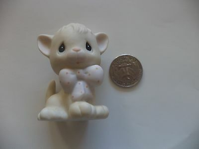 1982 Precious Moments Ceramic Cat Figurine Approx.  2 1/2""