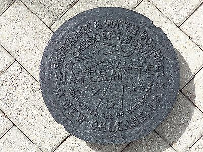 New Orleans ORIGINAL Cast Iron Water Meter Box Cover Genuine 10 POUND WEIGHT 12""