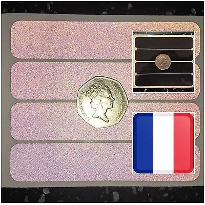 4x Black REFLECTIVE Strips Bicycle Motorcycle Helmet Stickers SAFETY France