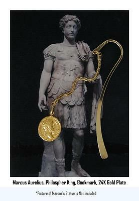 Marcus Aurelius, Philosopher King, Necklace, BOOKMARK  26-G