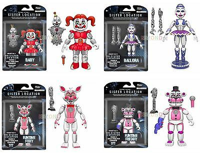 """Funko Five Nights at Freddy's 5"""" FNAF Action Figure  Set of 5 w/ Springtrap"""