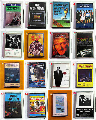 Assorted Original Various Artist Album Cassette Tapes (Batch #20)